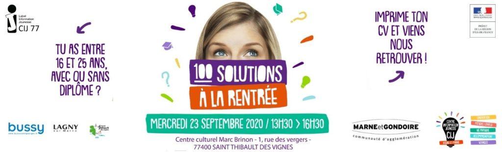 100 solutions à la rentrée - Espace Culturel Saint-Thibault des Vignes